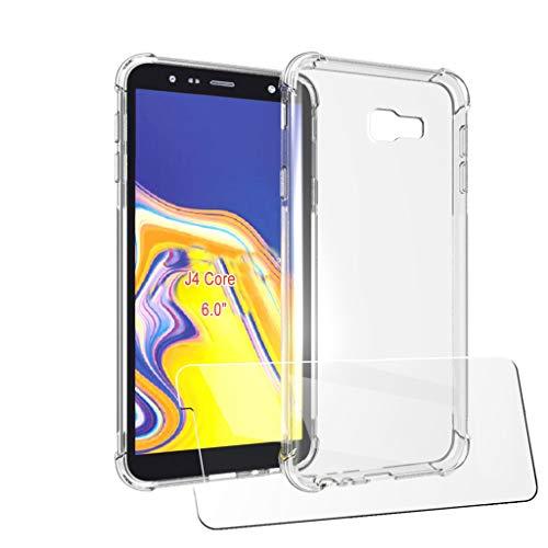 LJSM Hülle + Schutzfolie für Samsung Galaxy J4 Core (6.0