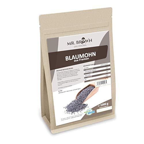 Mr. Brown fränkischer Blaumohn 1 kg   1000 g   Premium Qualität   Rohkostqualität...