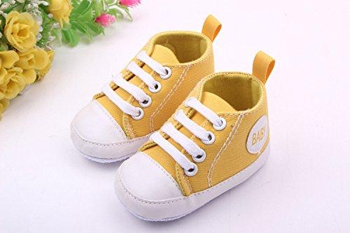 YICHUN , Baby Mädchen Lauflernschuhe violett Gelb