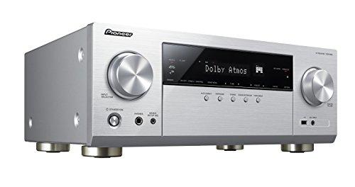 Pioneer 7.2 Kanal AV Receiver, VSX-933-S, Hifi Verstärker 135 Watt/Kanal, Multiroom, WLAN, Bluetooth, Streaming, Dolby Surround-Dolby Atmos-DTS:X, Musik Apps (Spotify, Tidal, Deezer), Silber, 1500586 - Pioneer 6-kanal-verstärker