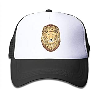 ANGLAOU Kids Gold-Lion Mesh Caps Child Cool Baseball Cap Snapback Hat