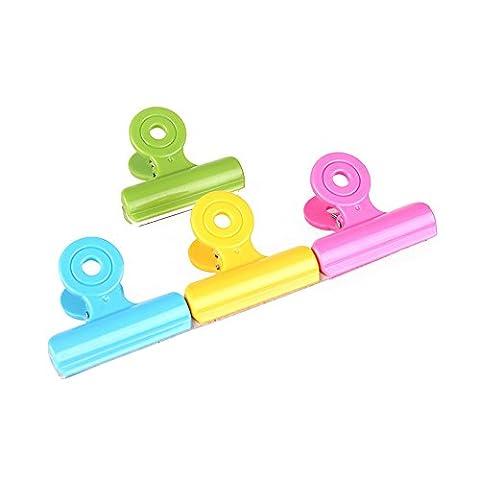 Zhi Jin Multicolore Plastique Cercle Pince à ressort papier Ticket Clip 51mm (lot de 12)