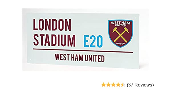 Metal Number Plate Badge GIFT West Ham United F.C