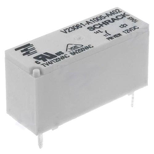Schrack Relais MSR V23061-A1005-A402 12V DC max 250V/8A Miniatur Starkstrom U Spule