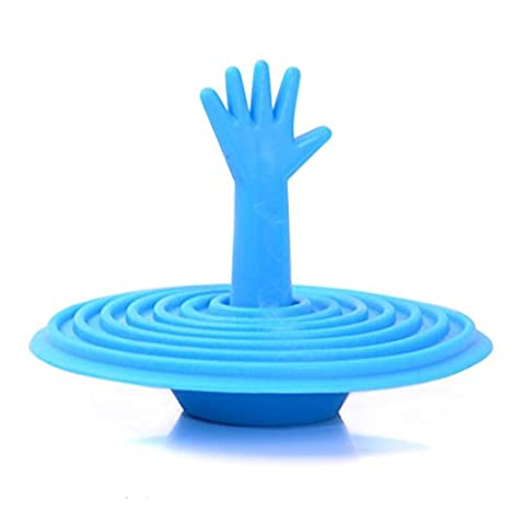 Bluelover Silicone Creative Hand Shape Sink Bathtub Plug Palm