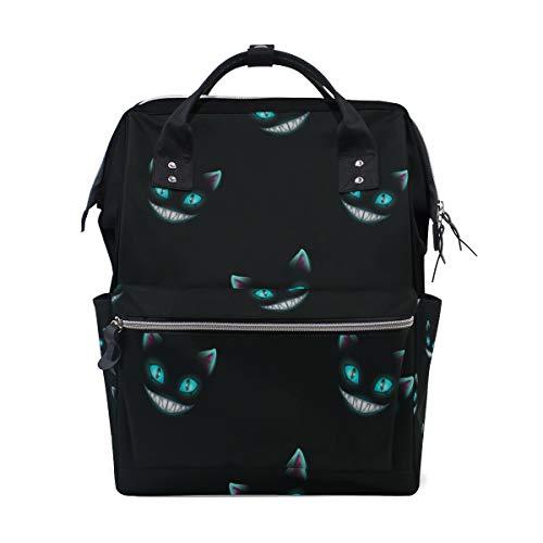 Verschwinden Katze Lächeln Gesicht große Kapazität Wickeltaschen Mama Rucksack Multi Funktionen Windel Pflege Tasche Tote Handtasche für Kinder Babypflege Reisen täglich Frauen