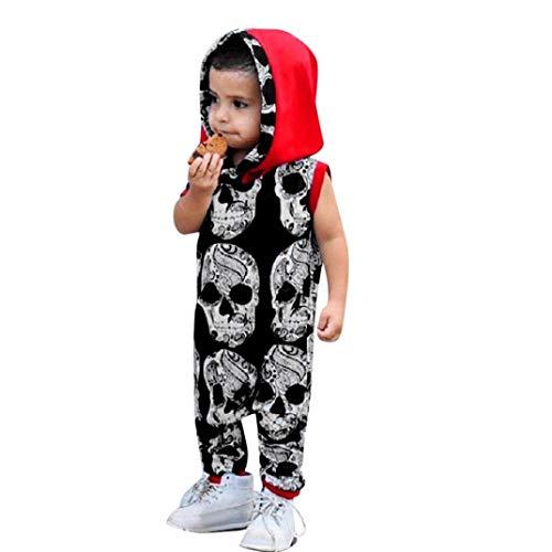 Bambino bambina maschio manica corta stampa taro cappuccio ha yi onesies neonata, neonato ragazzi bone tuta pagliaccetto costume vestito strega baby halloween carnevale bambina