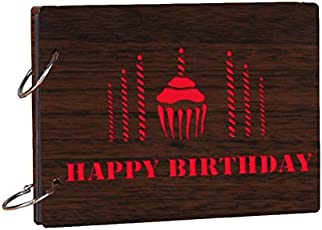 Studio Shubham Wooden Happy Birthday Brown Photo Album(26cmx16cmx4cm)