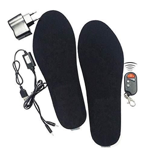 Zantec Solette riscaldate,USB Ricaricabile Scarpe riscaldata, per Stivali da Uomo o Donna, Invernali Caccia, Pesca, Trekking, Campeggio, Black 41-46
