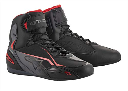 Alpinestars - Stivali Moto Faster-3 Shoes Black Gray Red - 43