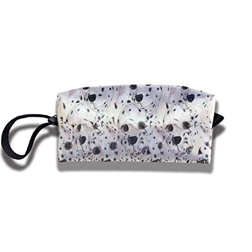 Cute Pups Print Lightweight Cosmetic Pouch Bag Storage Toiletry Purse Travel Cosmetic Bag Pouch with Zipper -