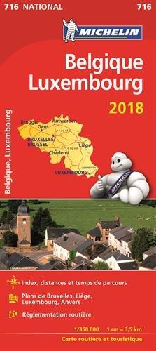 Belgique, Luxembourg : 1/350 000