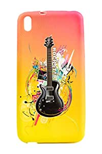 Purple Eyes Fashion Printed Silicon Back Case for HTC Desire 816 D816 Guitar