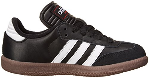 adidas Samba Classic Leather Soccer Shoe (Toddler/Little Kid/Big Kid),Nero/Running bianco,11.5 M US Little Kid Black/Running White