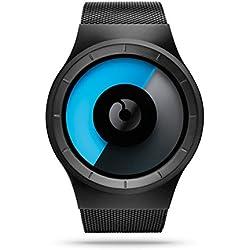 ZIIIRO Black Celeste Mono Stainless Steel Watch