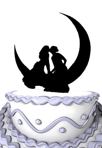 Mei Jia Fei Acryl-Kuchen-Deckel Lesbian Kissing auf dem Mond Hochzeit (Kuchen-deckel-monogramm-m)