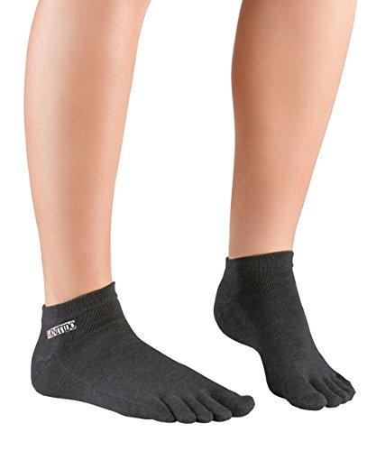 Knitido Track & Trail Ultralite Fresh - Calzini sportivi con dita in cotone e tessuto Coolmax® Anthrazit (642)