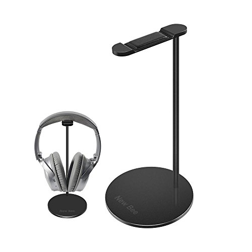 Aluminium Kopfhörer Ständer, nxet Universal Halterung zeigen Display Aufhänger für HyperX Cloud II Gaming Headset, Microsoft Xbox One Chat, Turtle Beach Recon 50 x/50 Pence/Beach XO One Stereo, Kingtop je G2000, Sony Playstation Wireless Stereo Headset 2.0 und mehr Schwarz