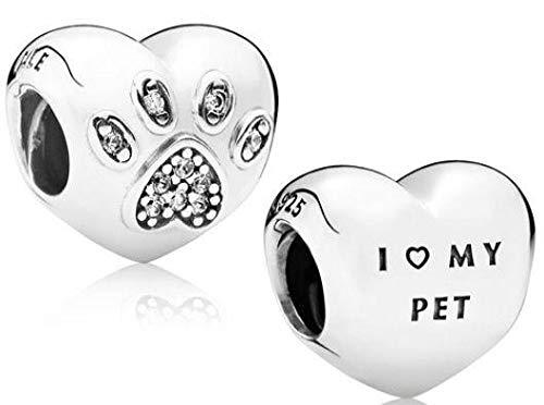 Pandora Damen-Bead I Love My Pet 925 Silber Zirkonia transparent - 791713CZ