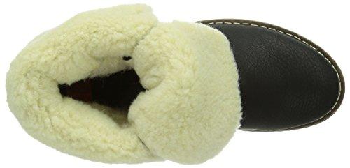 Rieker Y1421-01, Boots femme Noir (Schwarz/Kastanie/Offwhite/01)