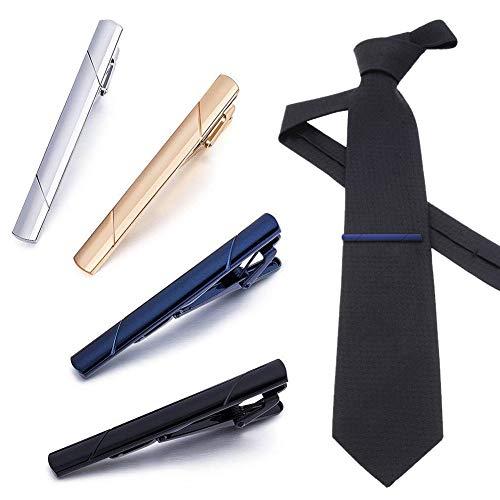 Krawattenklammer, Herren Krawattennadel Set, krawattenklammer edelstahl, Edelstahl Tie Clip für Normale Krawatte, Für Schmale Krawatte im Geschenketui, Halloween Geschenke, Weihnachtsgeschenke
