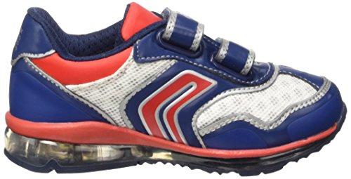 Geox B Todo Boy A, Scarpe Walking Baby Bambino Blu (navy/red)