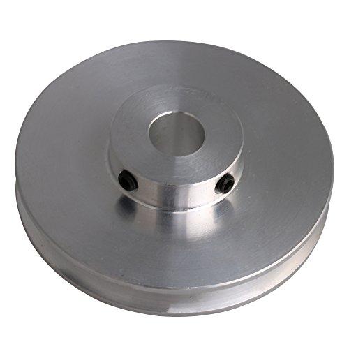 bqlzr 58x 16x 10mm Silber Aluminium-Legierung Einzel Groove 10mm fest Bohrung Pulley für Motor Schaft 3–5mm PU rund Gürtel