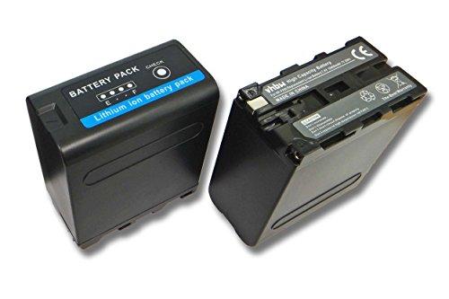 vhbw 2X Li-Ion Akku 10400mAh (7.4V) für Videokamera Camcorder Sony Cyber-Shot Point & Shoot DSR-PD100A, DSR-200 wie Sony NP-F990. - Sony-point-shoot-camcorder