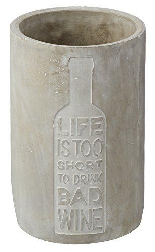 Forbidden Designs | Weinflaschenkühler aus Beton | 21,5 cm Hoch