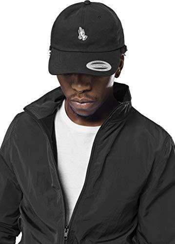 Black Tee Cap (Mister Tee Pray Hands Dad Cap, black)
