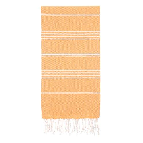 "Pestemal Turkish Bath Towels 37""x70"" for Bath Hamam Sauna Gym Unisex TradeMarked by Cacala Salmon"