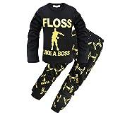 ALAMing - Pijama Dos Piezas - para niño Negro Negro (160 cm