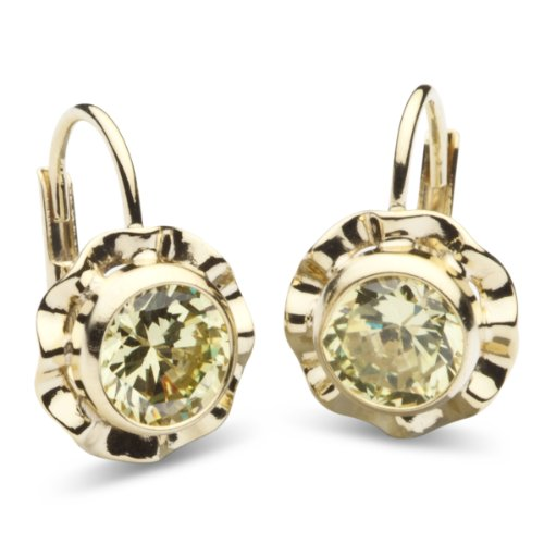 InCollections Damen-Ohrbouton 333/000 Gold mit Zirkonia limette 0020160090401