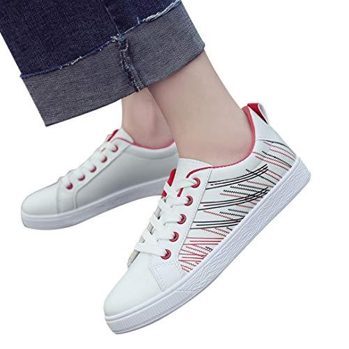 Sneaker Damen Turnschuhe Laufschuhe Schüler Schuhe Frauen Joggingschuhe Lace-Up White Schuhe Freizeitschuhe Sportschuhe Gym Schuhe,ABsoar