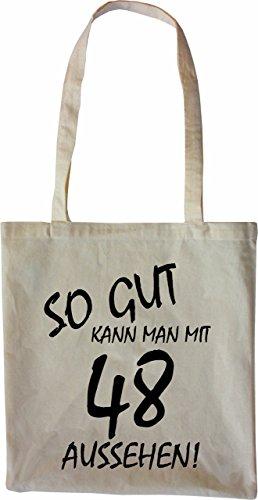 Mister Merchandise Tote Bag So gut kann man mit 48 aussehen! Jahren Jahre Borsa Bagaglio , Colore: Nero Naturale