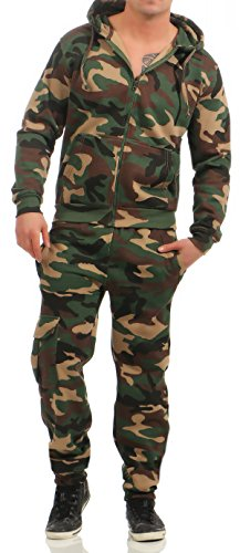 Game Herren Jogginganzug Camouflage Anzug Set Army Sportanzug Trainingsanzug Woodland