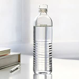 Vatiri Handmade Portable Clear Glass Water Bottle, 1100ml 37.2 fl oz