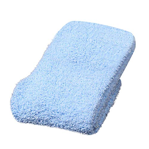 Huhu83 Damen Mädchen weichen Boden Socken nach Hause flauschige warme Winter reine Farbe Korallenrotes Vlies Socken (Blau) -