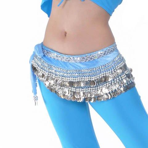 Belly Dance Hip Écharpe de jupe avec paillettes Idée de Cadeau de Noël Style 18