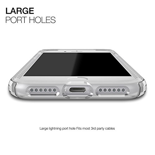 Patchworks Level iPhone 8 Plus / 7 Plus Hülle für iPhone 8 Plus / 7 Plus Hülle, iPhone 8 Plus / 7 Plus Schutzhülle - Military Grade Certified Drop Protection, iPhone 8 Plus / 7 Plus Schutzhülle schwar Clear
