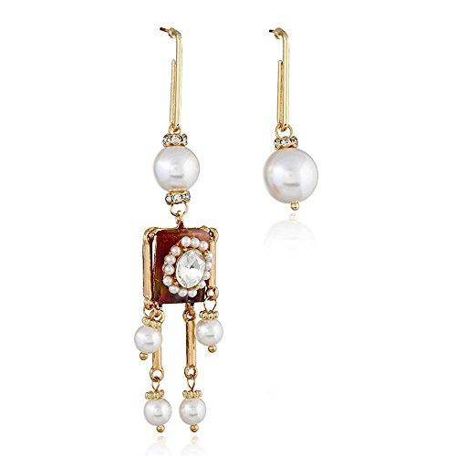 (Kaxima Ohrringe Damen, mit Fransen, Asymmetrische Ohrringe Weiblich, verrückte Roboter Ohrringe, Halloween-Geschenke)