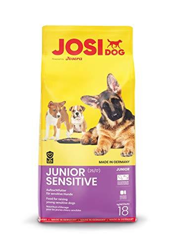 JosiDog Junior Sensitive (1 x 18 kg)   Welpenfutter für empfindliche Hunde   Premium Trockenfutter für wachsende Hunde   powered by JOSERA   1er Pack