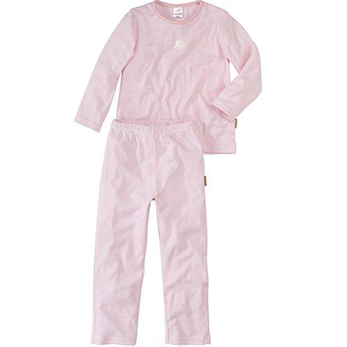 Wellyou | Pyjamas | Pyjamas pour Filles | Deux pièces à Manches Longues pour bébé et Enfants | rayé Blanc Rose | Harcelé | 100% Coton | Taille 92-98