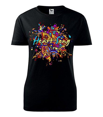 Colour Fashion -  T-shirt - Donna Black