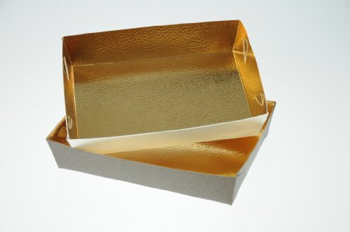Preisvergleich Produktbild Gebäckschale braun+weiß 16x11x3, 5 cm,  10 Stück,  5 je Farbe