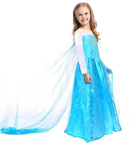 CoolChange Costume di Elsa di Frozen, Misura: 150