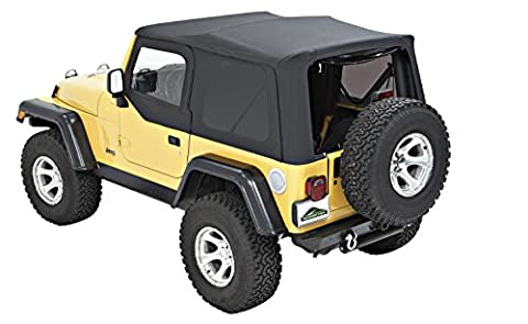 Pavement Ends by Bestop 51197-35 Replay Black Diamond Soft Top with Tinted Back Windows for Jeep Wrangler by Pavement Ends