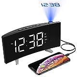 Best Horloges de projection d'alarme - Holife Radio Réveil Projection Plafond Alarme FM/ 4 Review