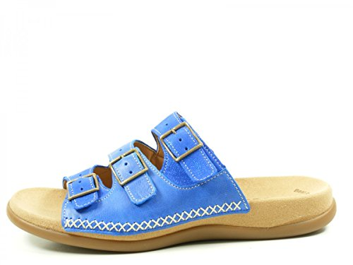 Gabor 43-709-03 Schuhe Damen Sandalen Best Fitting Pantoletten Blau