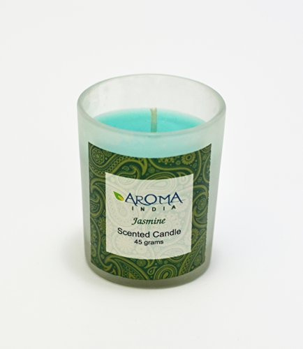 Aroma India Aroma India Scented Votive Glass Candle, Jasmine